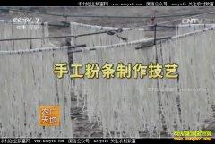 [农广天地]手工粉条制作技艺视频