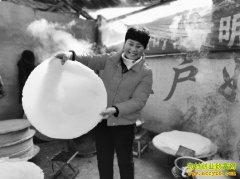 山东五莲县张吉花加工煎饼6万多斤,销售收入60多万元